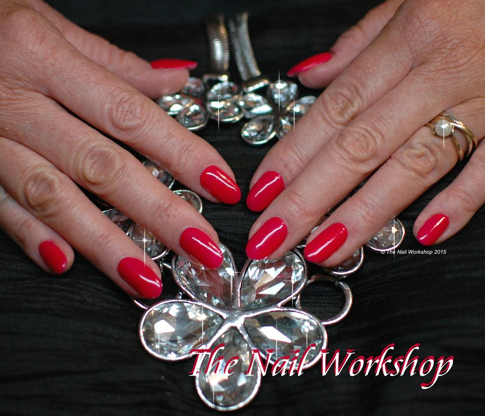 Acrylic Red Wedding nails