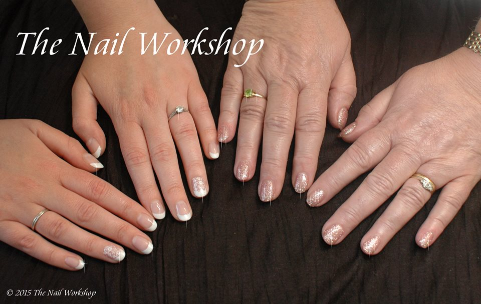 Bride and Mother of the Bride Wedding Nails
