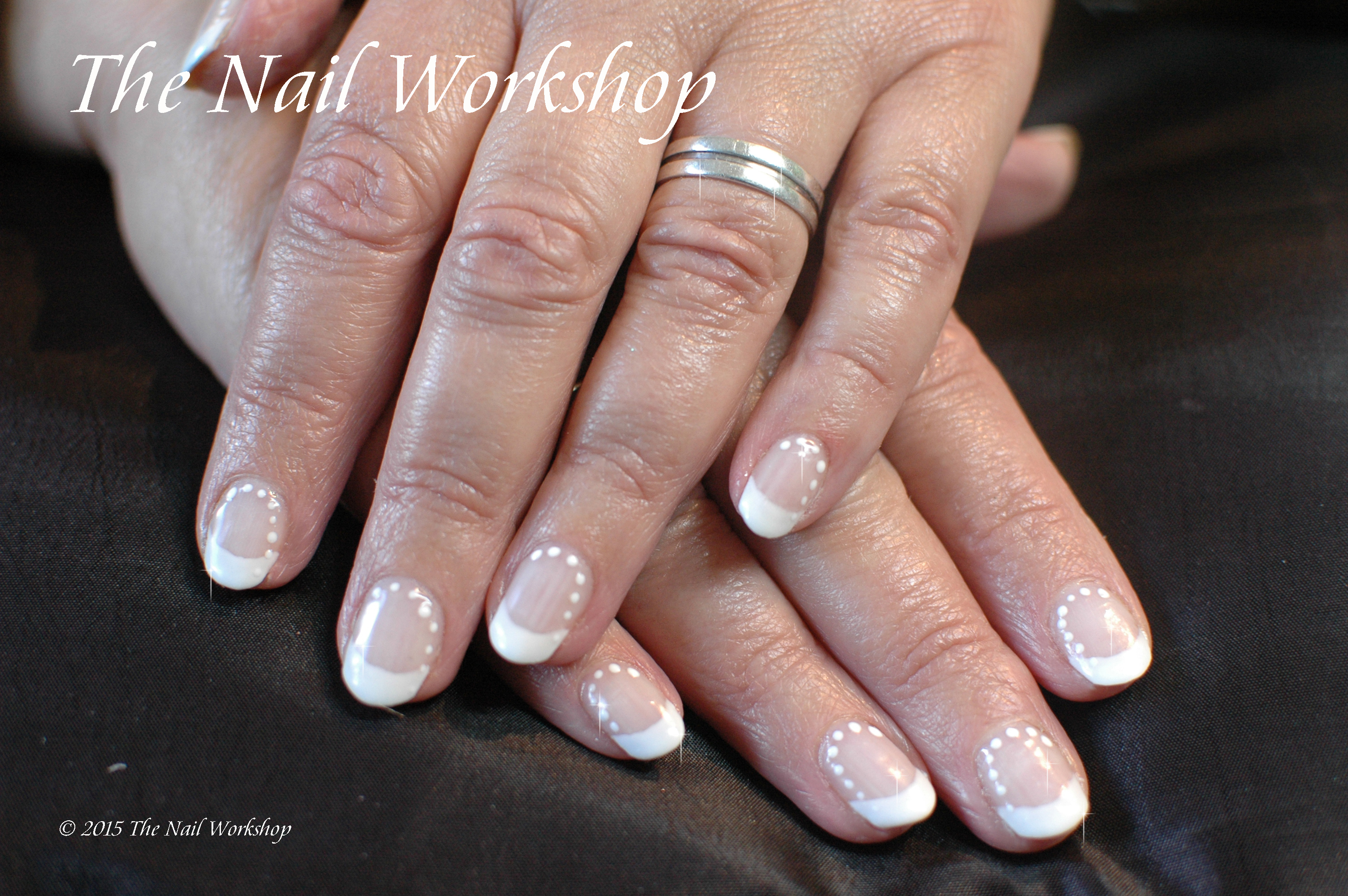Wedding Nails French with dots