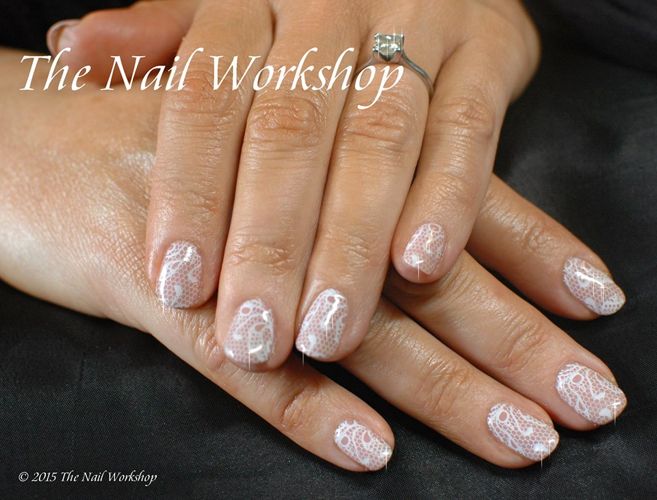Gel II with Stamping Wedding Nails